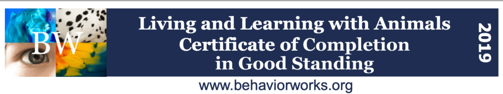LLA Course Certificate of completion Banner